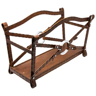 Western Themed Metal Magazine Rack For Sale