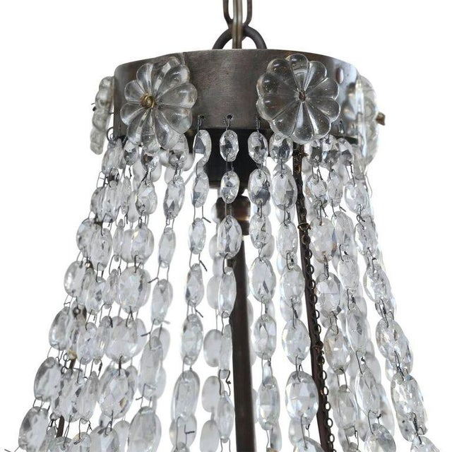 Gold Petite Italian Crystal Chandelier For Sale - Image 8 of 10