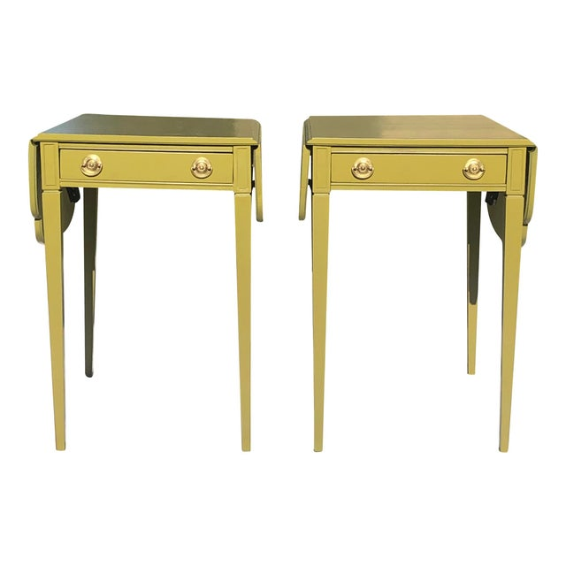 Mid 20th Century Mid Century Lacquered Pembroke Tables - a Pair For Sale In Greenville, SC - Image 6 of 7