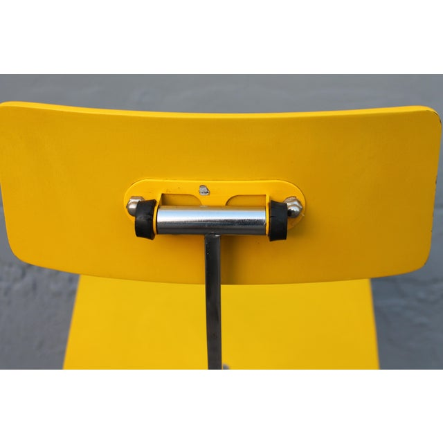 Metal Mid Century Modern Beautiful Yellow Desk Chair For Sale - Image 7 of 11