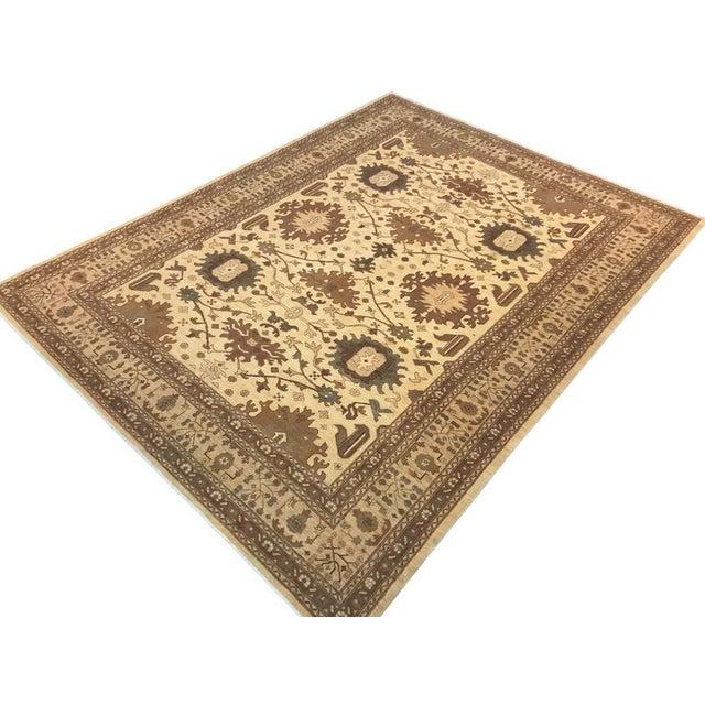 "Textile Kafkaz Peshawar Casey Ivory & Tan Wool Rug - 10'2"" x 13'6"" For Sale - Image 7 of 7"