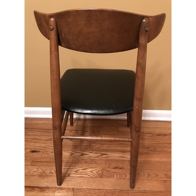 Burnt Umber Mid Century Modern Side Chair For Sale - Image 8 of 13