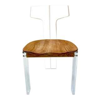 1960s Modern Lucite Klismos Style Chair For Sale