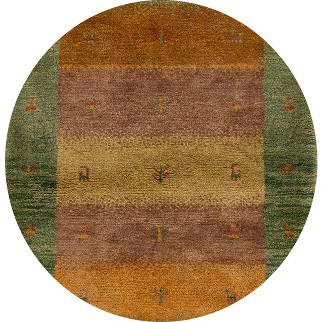 "Tan Mid-20th Century Persian Gabbeh Rug, 2'9"" X 3'10"" For Sale - Image 8 of 9"