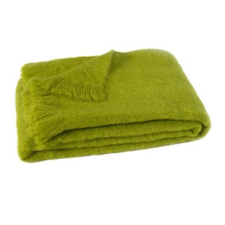 Pesto Brushed Mohair Throw For Sale