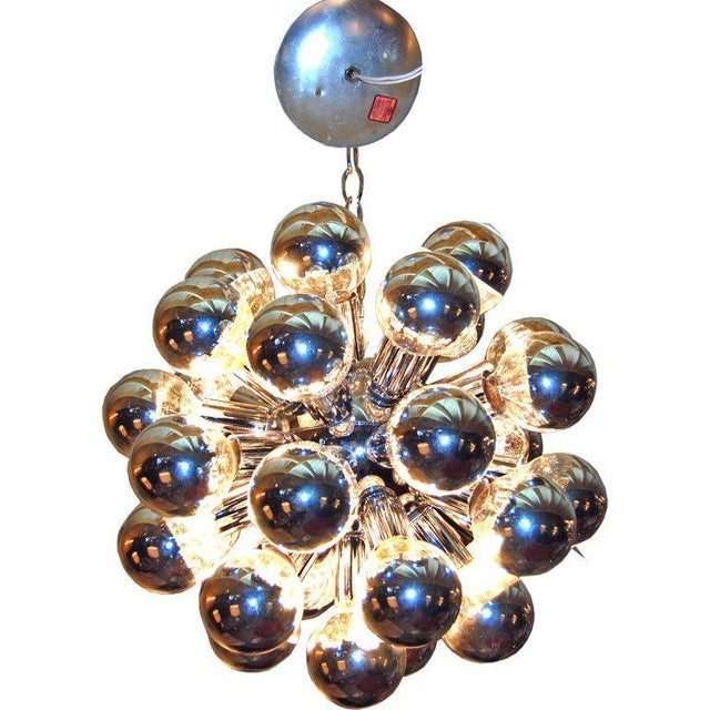 Silver 1960s Italian Sputnik Chandelier With 32 Lights For Sale - Image 8 of 8