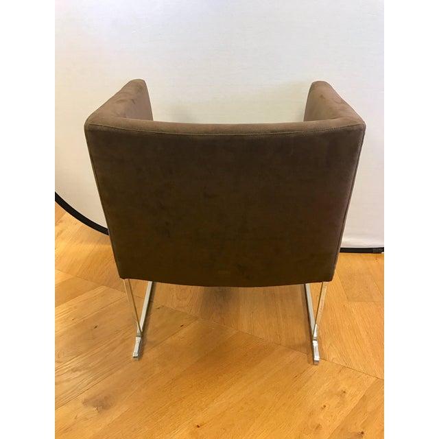 Modern B&b Italia Atonio Citterio Brown Suede Armchair For Sale - Image 3 of 6