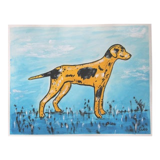 Hunting Dog Pointer Painting by Cleo Plowden For Sale