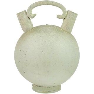 Seguso Vetri d'Arte Murano Scavo Texture Italian Art Glass Double Vase Jug For Sale
