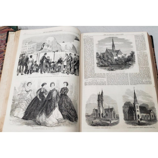 English Two Volumes Illustrated London News Books 861 and 1867 - Set of 2 For Sale - Image 3 of 13