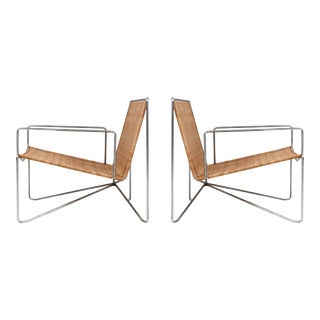 Rattan & Steel Armchairs by Gelderland - 1964 For Sale