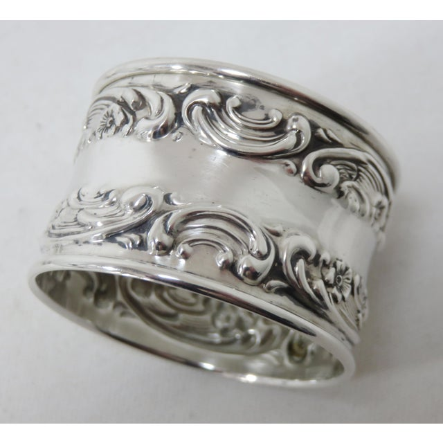 Vintage Victorian Gorham Sterling Silver Napkin Rings - a Pair For Sale - Image 10 of 12