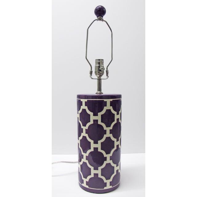 Jill Rosenwald Hampton Links Table Lamp in Purple - Image 2 of 6