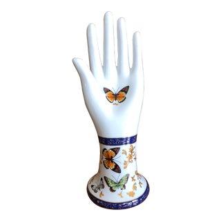 Vintage Baum Butterfly Chintz Cobalt & Gold Porcelain Hand