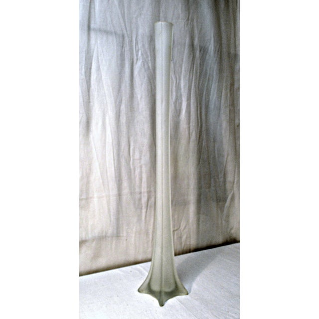 Art Deco Frosted Eiffel Tower Vase Chairish