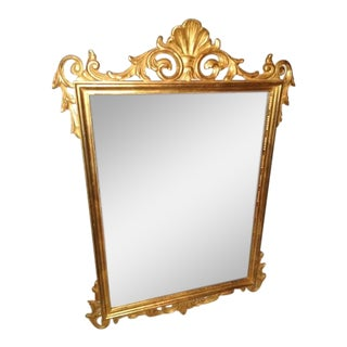 La Barge Clam Shell Italian Rococo Holly Regency Gold Gilded Mirror For Sale