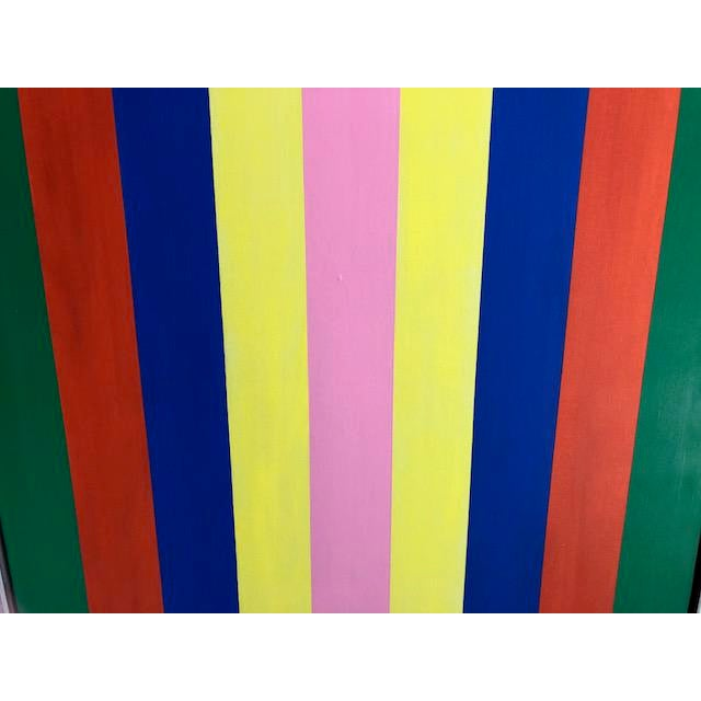 1970s 1970s Vintage Large Opt Art Painting For Sale - Image 5 of 9