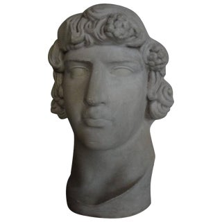 1940s Vintage Italian Patinated Plaster Bust For Sale