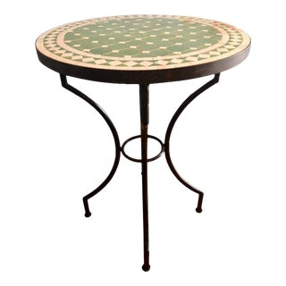 1990s Vintage Fez Garden Mosaic Tile Table For Sale