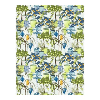 Garden Room Peridot Linen Cotton Fabric, 3 Yards For Sale