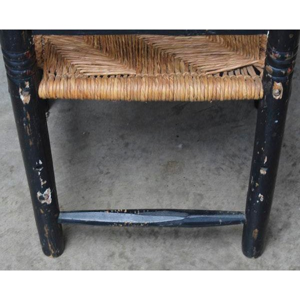 Antique Hand Hewn Rush Seat Chair For Sale In Atlanta - Image 6 of 6