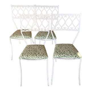1960s Cast Iron Chairs- Set of 4 For Sale