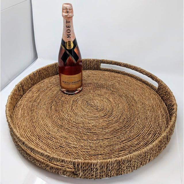 Palecek Palecek Style Round Ottoman Tray For Sale - Image 4 of 13