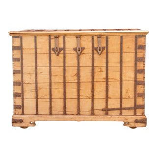 19th Century Rajasthani Grain Trunk For Sale
