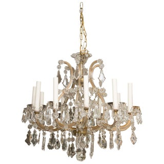 Vintage Maria Theresa Twelve-Light Chandelier For Sale