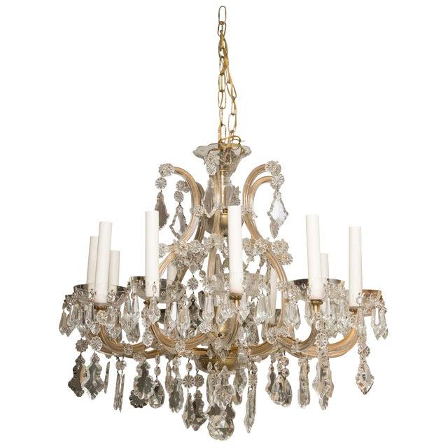 Vintage Maria Theresa Twelve-Light Chandelier For Sale