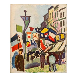 1940s Raoul Dufy, the 14th of July at Le Havre Original Period Swiss Lithograph For Sale