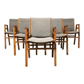 Mid Century Modern 1970s Dining Chairs - Set of 6 For Sale