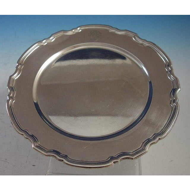 Beautiful Hampton by Tiffany & Co. sterling silver charger plate marked #20843. The plate measures 10 3/4 in diameter and...
