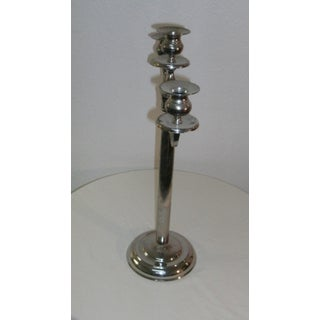 """Three Branch Silver Toned 20"""" Tall Tabletop Candleabra Preview"""
