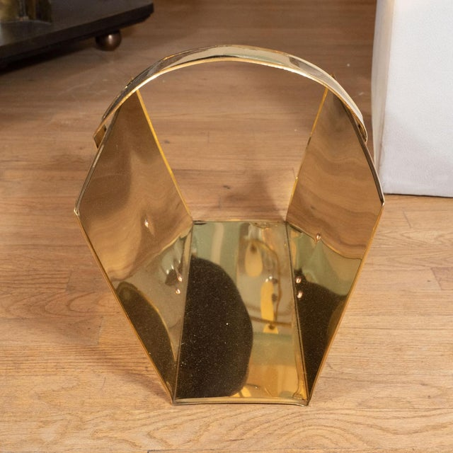 1960s Brass Magazine Rack For Sale - Image 4 of 5