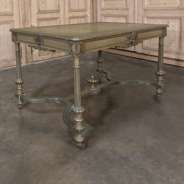 19th Century French Louis XVI Painted End ~ Library Table For Sale - Image 11 of 12
