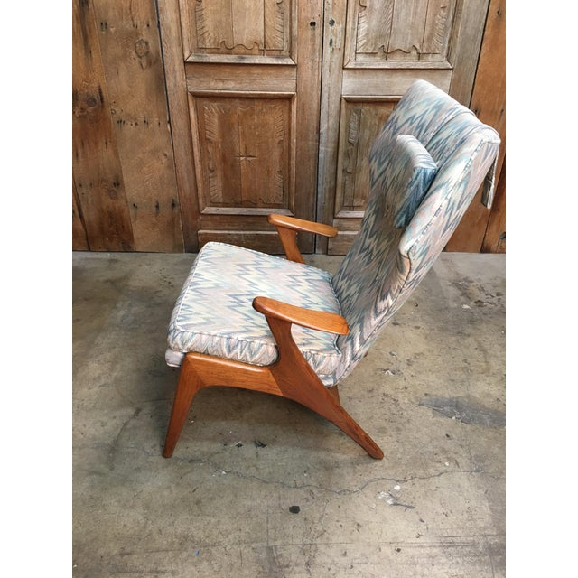 Vintage Mid Century Kurt Ostervig High Back Lounge Chair For Sale - Image 10 of 13