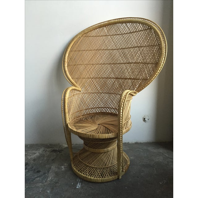 1970s Light Colored Peacock Chair - Image 3 of 6