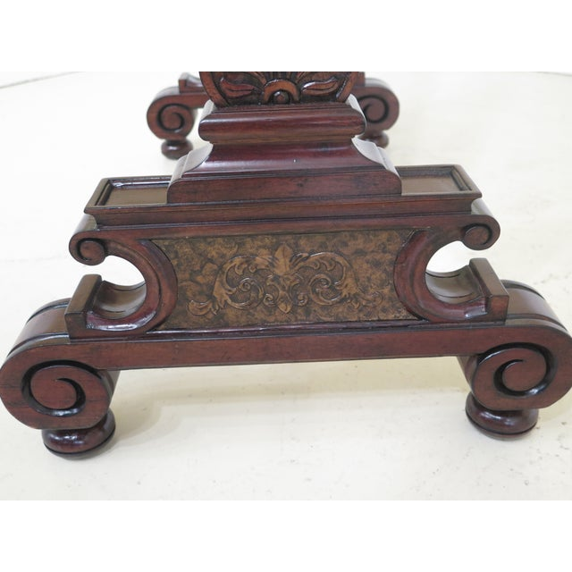 Brown Maitland Smith Mahogany Cheval Dressing Mirror For Sale - Image 8 of 12
