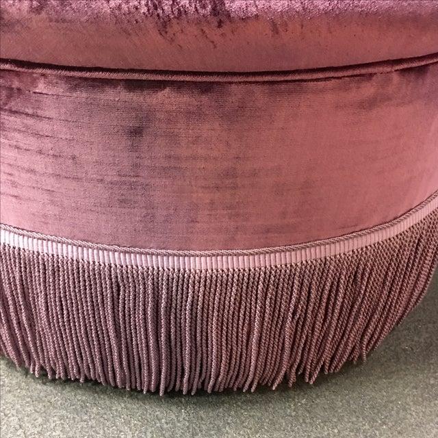 Michael Taylor Schiaparelli Purple Serpentine Sofa - Image 10 of 10