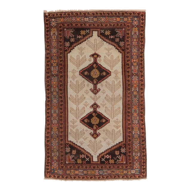 Early 20th Century Antique Malayer Village Rug - 3′6″ × 5′11″ For Sale
