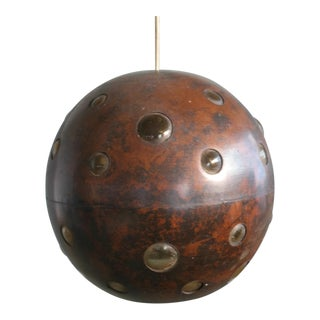 1960s Brutalist Spherical Copper and Glass Pendant Lamps by Nanny Still for Raak For Sale