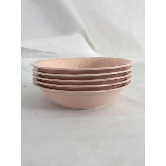 Mid-Century Modern 80s Mikasa Spring Ft 200 Hibiscus Larry Larso Salad / Soup Bowls - Set of 5 For Sale - Image 3 of 6