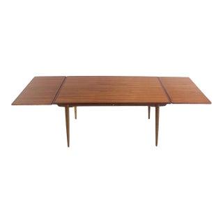 Scandinavian Modern Teak & Oak Dining Table Designed by Hans Wegner For Sale