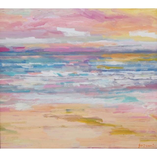 "Impressionist seascape painting on artist canvas panel by California artist Juan ""Pepe"" Guzman-Maldonado (Chile b.1948)..."