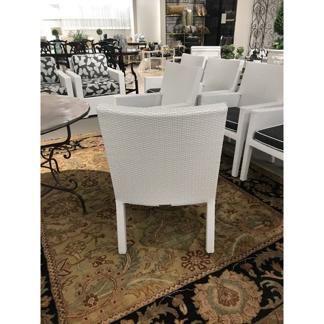 Arm Frontgate Wicker Dining Chairs - Set of 6 For Sale - Image 4 of 9