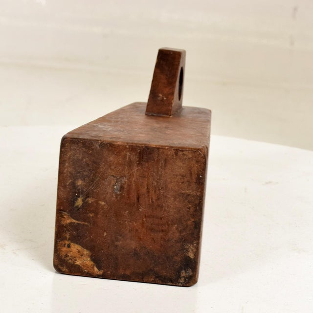 Wood Mid-Century Modern Burl Wood Craftsmanship Candle Holder For Sale - Image 7 of 9
