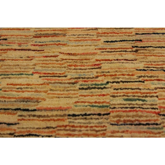 Contemporary Gabbeh Peshawar Blair Tan/Rust Hand-Knotted Wool Rug -3'2 X 5'0 For Sale - Image 3 of 8