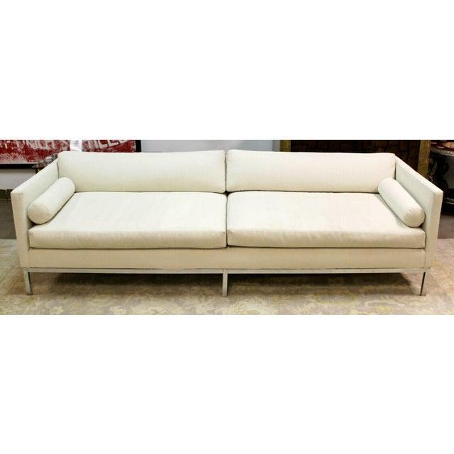 B&B Italia Mid Century Modern B&b Italia Chrome Base Sofa Italy 1970s Baughman Era For Sale - Image 4 of 10