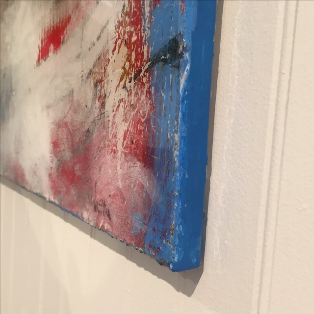 "Taffi Laing ""Poem"" Abstract Original Painting - Image 5 of 8"